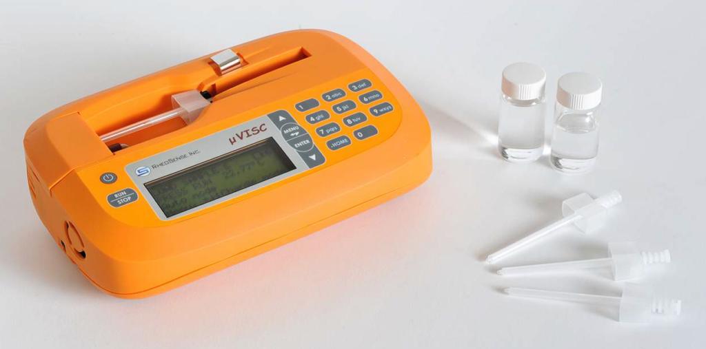 µVISC ein portables (Batterie)  vollwertiges Rheometer/Viskosimeter schnelle Messungen - einfache Bedienung - präzise Ergebnisse - preiswert